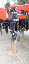 Pluton tines with shear bolt protection